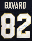 Mark Bavaro Autographed Blue College Style Jersey W/ Go Irish - JSA W Authenticated