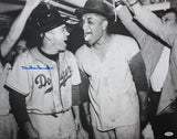 Duke Snider Autographed LA Dodgers 16x20 B&W Beer In Locker Photo- JSA Auth