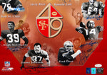 San Francisco 49ers HOFers Autographed 16x20 Photo- JSA Authenticated