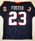 Arian Foster Autographed Blue Pro Style Jersey- JSA Witnessed Authenticated