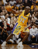 Shaquille O'Neal Autographed 16x20 Lakers Dribbling Photo- PSA/DNA Authenticated