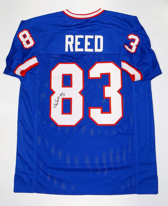 Andre Reed Autographed Blue Pro Style Jersey W/ HOF- JSA W Authenticated