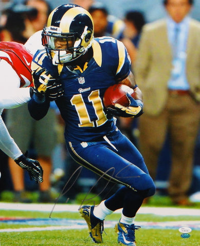 Tavon Austin Autographed Rams 16x20 Vertical Running Photo- JSA Authenticated