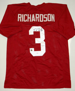 Trent Richardson Autographed Maroon Jersey- JSA Authenticated