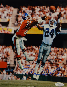 Everson Walls Autographed 8x10 Catch Against Broncos Photo- JSA Authenticated