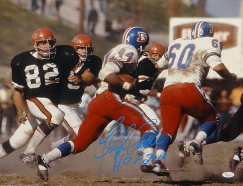 Floyd Little HOF Autographed Denver Broncos16x20 Against Bengals Photo- JSA Auth