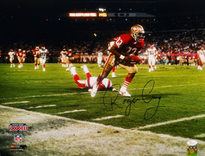 Roger Craig Autographed 49ers 16x20 Running in Super Bowl Photo with JSA W Auth