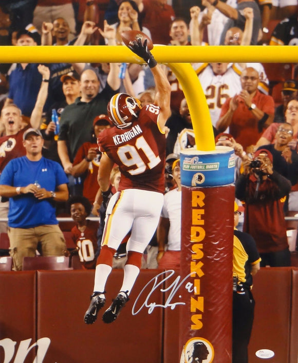 Ryan Kerrigan Autographed Redskins 16x20 Dunking On Goal Post Photo- JSA W Auth
