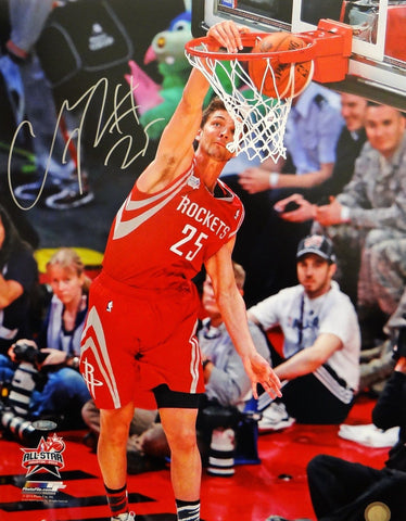 Chandler Parsons Autographed 16x20 Close Up Dunking Photo- TriStar Authenticated