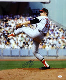 Jim Palmer Autographed *Blue 16x20 Orioles Pitching Photo W/ HOF- JSA W Auth