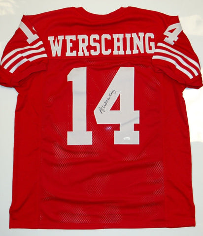 Ray Wersching Signed / Autographed Red Jersey- JSA W Authenticated
