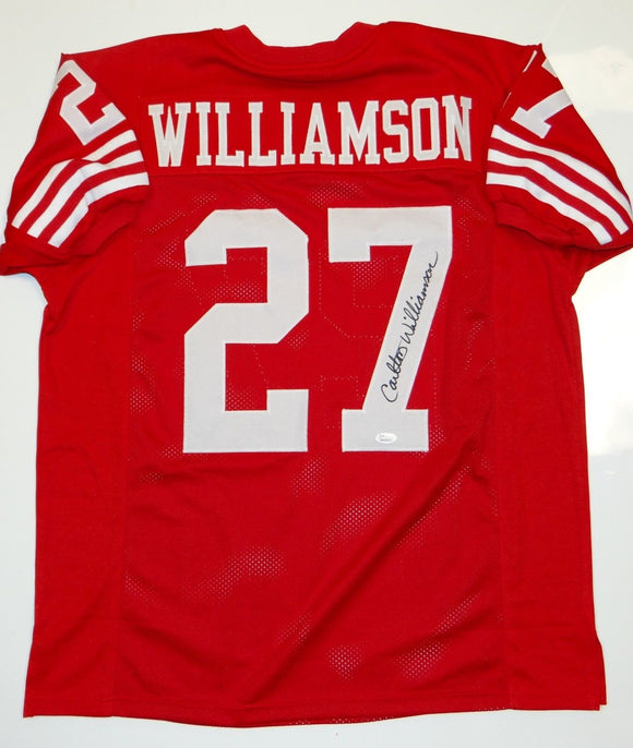 Carlton Williamson Signed / Autographed Red Pro Style Jersey- JSA W Auth