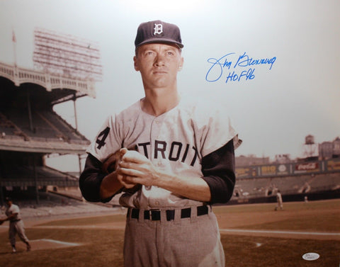 Jim Bunning Autographed 16x20 Close Up Detroit Tigers Photo- JSA W Authenticated