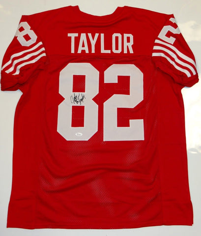 John Taylor Autographed Red Pro Style Jersey- JSA W Authenticated