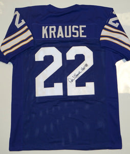 Paul Krause Signed / Autographed Purple Jersey- JSA Authenticated