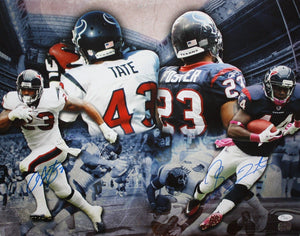 Arian Foster & Ben Tate Autographed 16x20 Multi Shot Photo- JSA Authenticated
