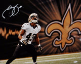 Darren Sproles Signed 16x20 Saints On Field Photo *White- JSA Authenticated