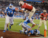 Jameis Winston Autographed Seminoles 16x20 TD Jump Over Photo- JSA Authenticated
