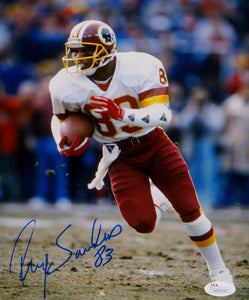 Ricky Sanders Autographed Redskins 8x10 On Field Photo- JSA Witnessed Auth