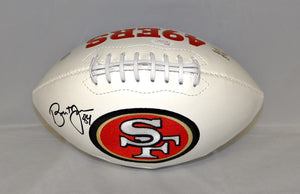 Brent Jones Autographed San Francisco 49ers Logo Football- JSA W Authenticated