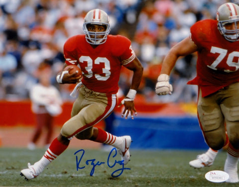 Roger Craig Autographed 49ers 8x10 Close Up Running Photo- JSA W Auth