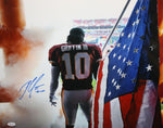 Robert Griffin III Autographed 16x20 Holding Flag Photo- JSA W Authenticated