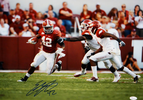 Eddie Lacy Autographed 16x20 Running Against Arkansas Photo- JSA Authenticated