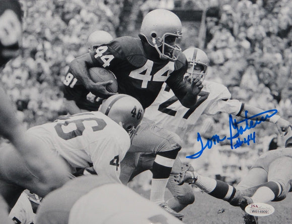 Tom Gatewood Autographed 8x10 B&W Horizontal Running Photo- JSA W Authenticated