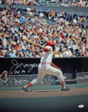 Joe Morgan HOF Autographed 16x20 Swinging Photo- JSA W Authenticated