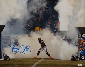 Brandon Marshall Autographed 16x20 Yelling In Smoke Photo- JSA W Authenticated