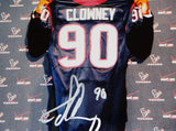 Jadeveon Clowney Autographed 8x10 Holding Texans Jersey Photo- JSA Authenticated