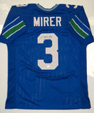 Rick Mirer Autographed Blue w/ Green Jersey- JSA W Authenticated