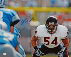 Brian Urlacher Autographed 16x20 Horizontal Front View Photo- JSA Authenticated