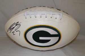 Eddie Lacy Autographed Green Bay Packers Logo Football- JSA W Authenticated