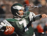 Ron Jaworski Autographed 16x20 Up Close Passing Photo- JSA W Authenticated