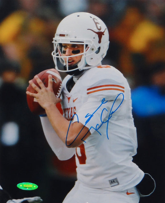 Case McCoy Autographed 8x10 Up Close Texas Longhorns Photo- TriStar Auth