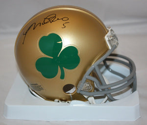 Manti Te'o Autographed Notre Dame (Shamrock) Mini Helmet- JSA W Authenticated