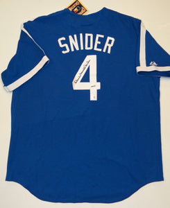 Duke Snider Autographed Blue Brooklyn Dodgers Jersey- TriStar Authenticated