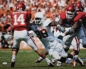 Brian Orakpo Autographed 16x20 Tackling Bradford Photo- JSA Authenticated
