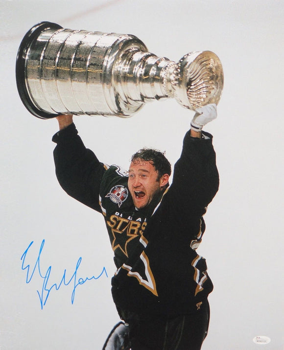 Ed Belfour Autographed 16x20 With Stanley Cup Photo- JSA W Authenticated