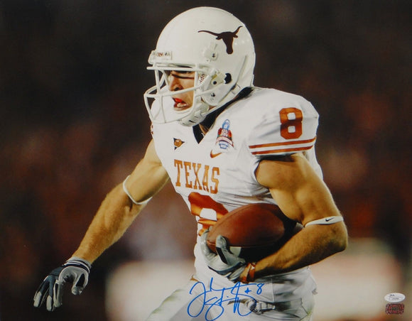 Jordan Shipley Autographed 16x20 Texas Longhorns Horizontal Photo- JSA Auth