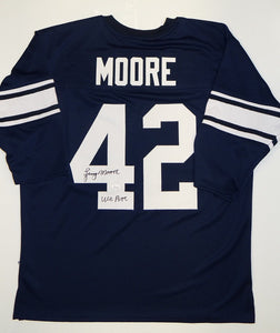 Lenny Moore Autographed Navy Blue TB College Style Jersey- JSA W Authenticated