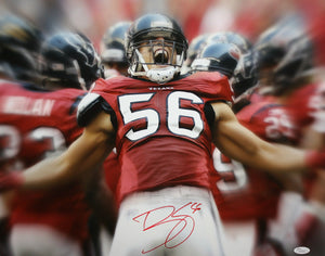 Brian Cushing Autographed 16x20 Extreme Yelling Photo- JSA W Authenticated