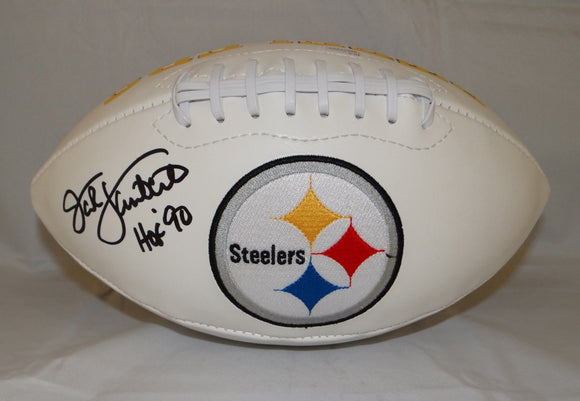 Jack Lambert Autographed Pittsburgh Steelers Logo Football- JSA W Authenticated