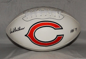 Dick Butkus HOF 79 Autographed Chicago Bears Logo Football- JSA W Authenticated