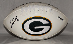 Ron Wolf Autographed Green Bay Packers Logo Football w/ HOF 15 and JSA W