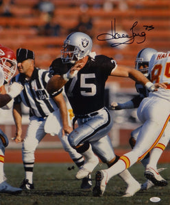 Howie Long Autographed *Black Raiders 16x20 Against Chiefs Photo- JSA W Auth