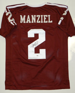Johnny Manziel Autographed Maroon Jersey- PSA/DNA Authenticated