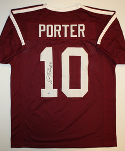 Sean Porter Autographed Maroon Jersey- TriStar Authenticated