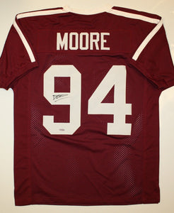 Damontre Moore Autographed Maroon Jersey- TriStar Authenticated